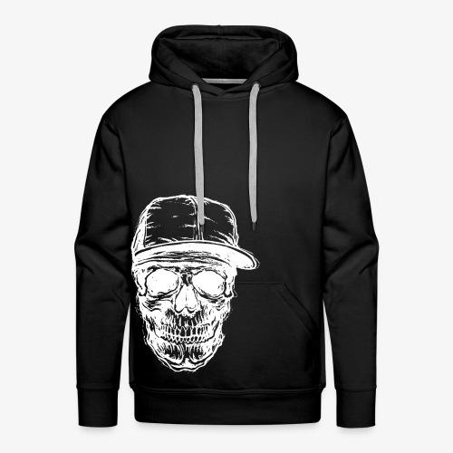 Crâne avec capuchon blanc | Designs Monkey - Mode - Sweat-shirt à capuche Premium pour hommes