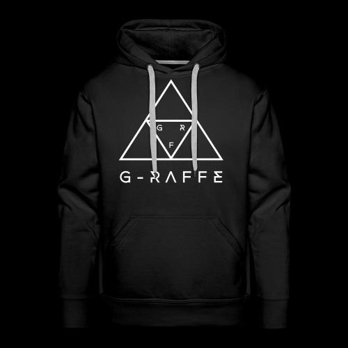 G-RAFFE white triangle - Männer Premium Hoodie