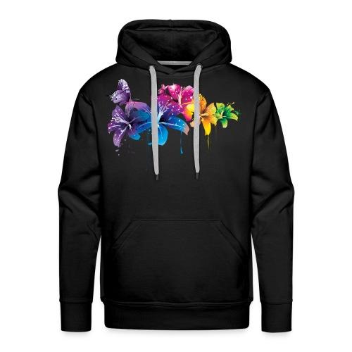 Flowers - Mannen Premium hoodie
