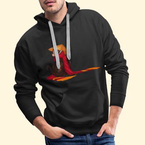 Un singe en hiver - Sweat-shirt à capuche Premium pour hommes