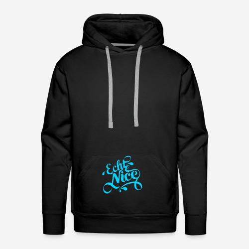 ECHTNICE BLUE SMALL - Männer Premium Hoodie