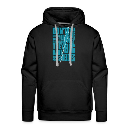 Needles Blue - Men's Premium Hoodie