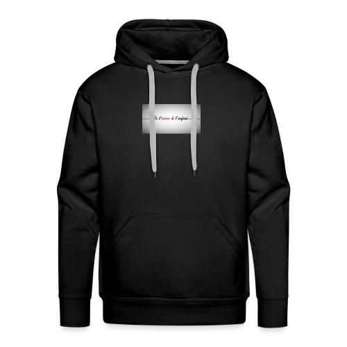 je taime à l'infini - Sweat-shirt à capuche Premium pour hommes