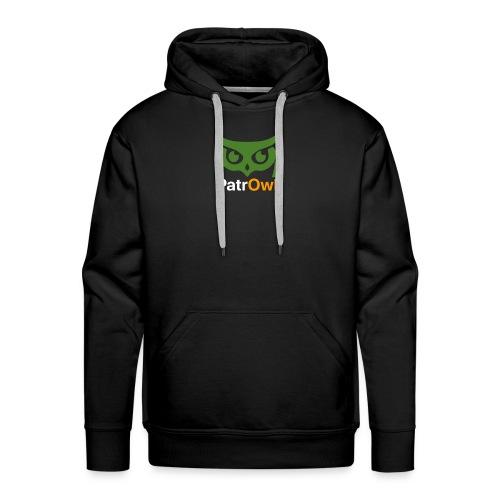 logo owl text large white - Sweat-shirt à capuche Premium pour hommes