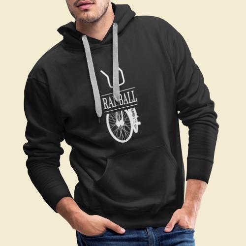 Radball | Retro White - Männer Premium Hoodie