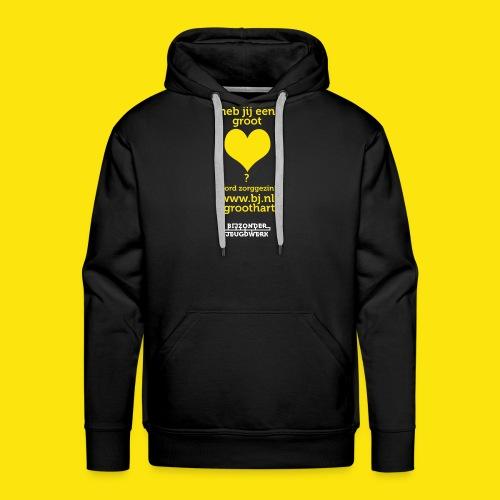 Zorggezinnen gezocht groot hart versie 2 - Mannen Premium hoodie