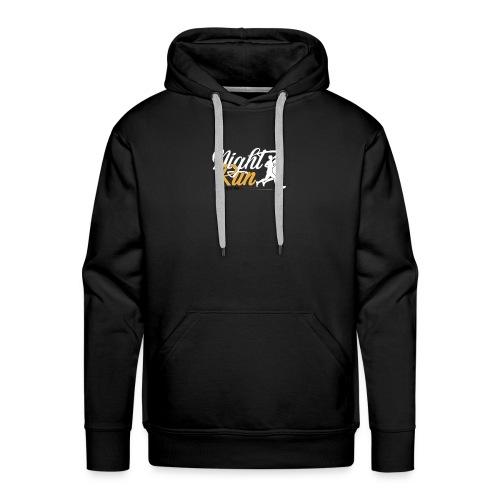 NIGHT RUN LOGO vec - Sweat-shirt à capuche Premium pour hommes