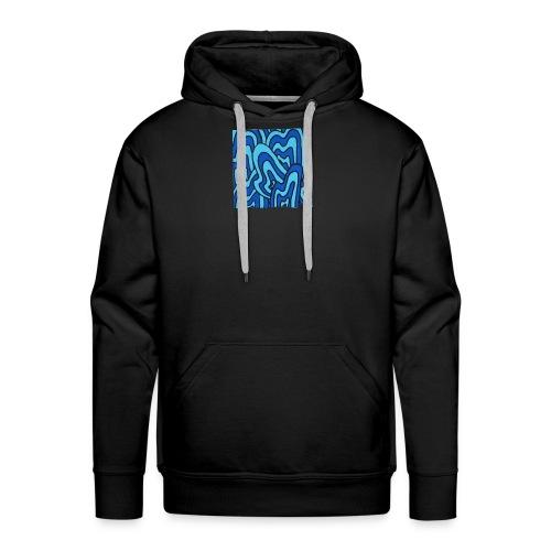 Wavy blue - Sweat-shirt à capuche Premium pour hommes