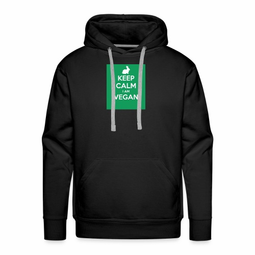 keep calm i am vegan 3 - Sweat-shirt à capuche Premium pour hommes
