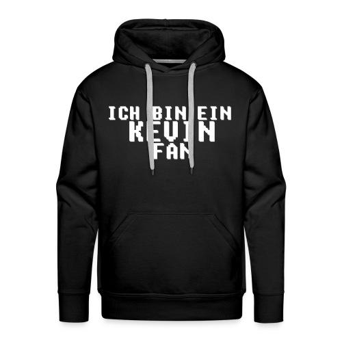ICH BIN EIN KEVIN FAN LOGO WEIß - Männer Premium Hoodie