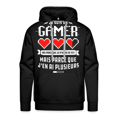 T-shirt Gamer - Sweat-shirt à capuche Premium pour hommes