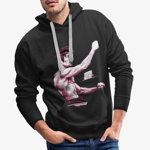 judo red - Sweat-shirt à capuche Premium pour hommes