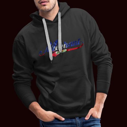 méchant drapeau haïtien - Sweat-shirt à capuche Premium pour hommes