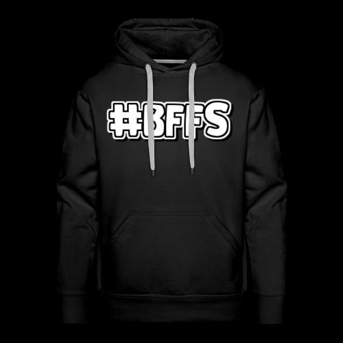 #BFFS-Tekst Logo wit - Mannen Premium hoodie