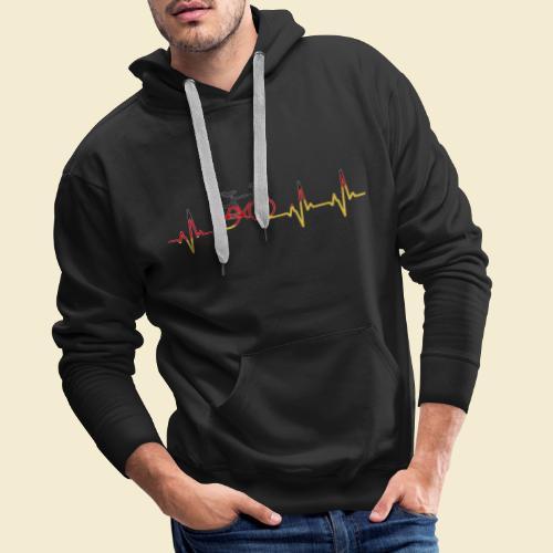 Kunstrad | Artistic Cycling Heart Monitor Germany - Männer Premium Hoodie