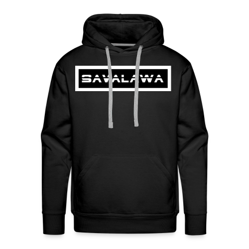 SavaLawa Schrift Schwarz/Weiß - Männer Premium Hoodie