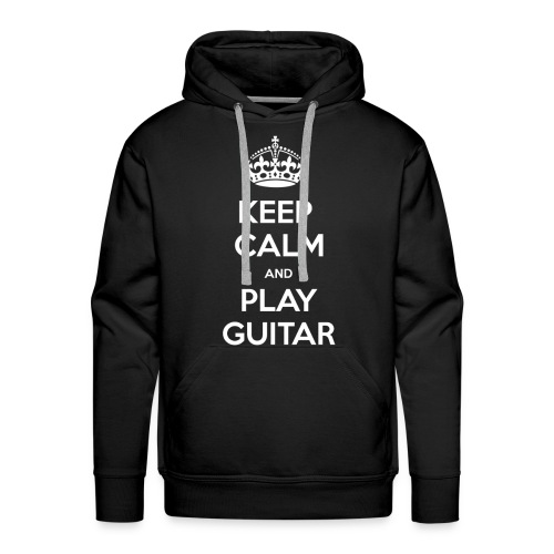 Keep Calm And Play Guitar - Felpa con cappuccio premium da uomo