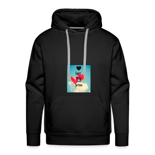 let my love you 1 - Mannen Premium hoodie