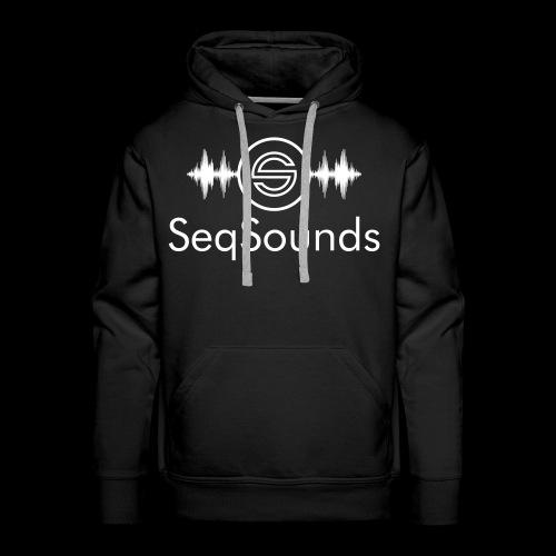 SeqSounds Logo mit Schrift - Männer Premium Hoodie