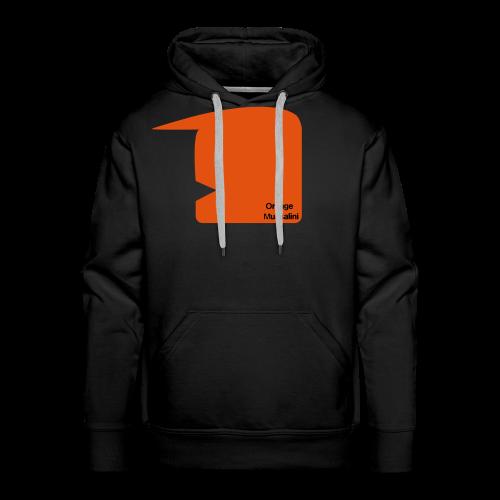 Orange Mussalini - Männer Premium Hoodie