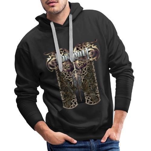 Runes Gudrun - Sweat-shirt à capuche Premium pour hommes