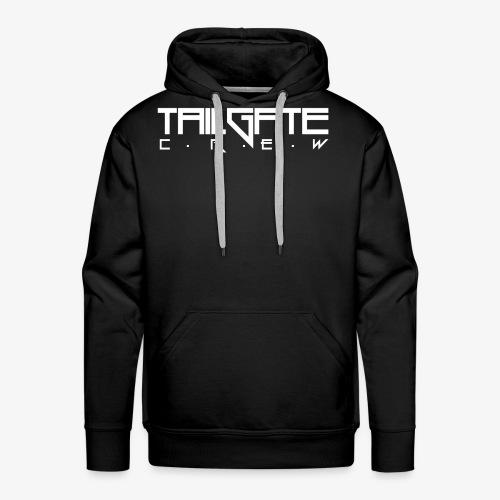 Tailgate hvit - Premium hettegenser for menn