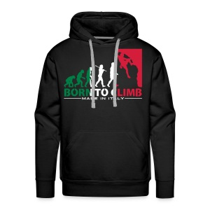 ROCK CLIMBING EVOLUTION BORN TO CLIMB ITALY - Men's Premium Hoodie