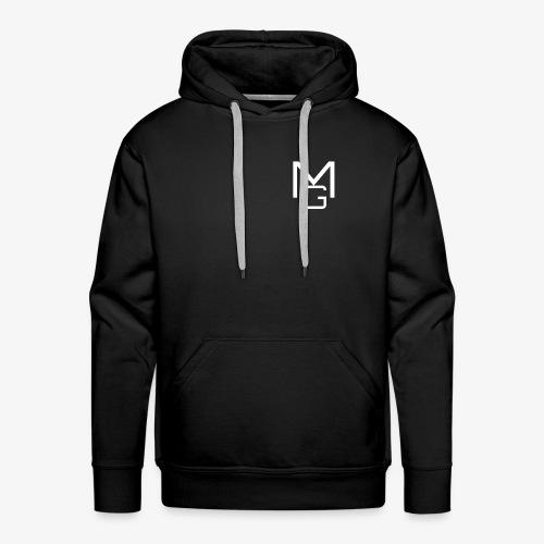 White MG Overlay - Men's Premium Hoodie