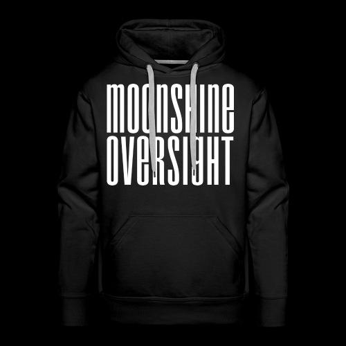 Moonshine Oversight blanc - Sweat-shirt à capuche Premium pour hommes