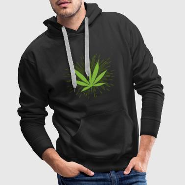 Cannabis Weed hampa THC CBD 420 marijuana växt - Premiumluvtröja herr