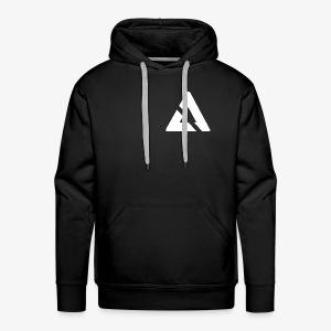 Witte Driehoek Logo - Mannen Premium hoodie