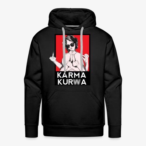 Karma kurwa - Bluza męska Premium z kapturem