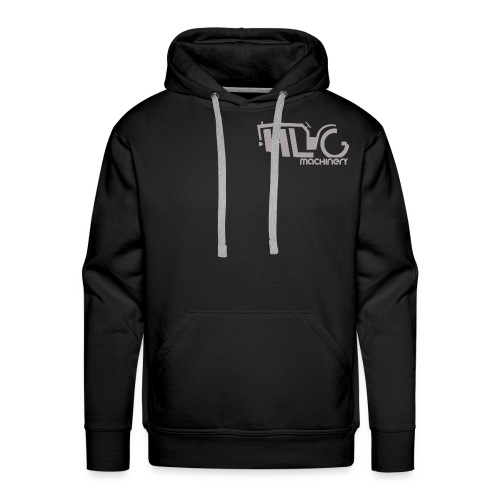 HLG machinery Gris - Sweat-shirt à capuche Premium pour hommes