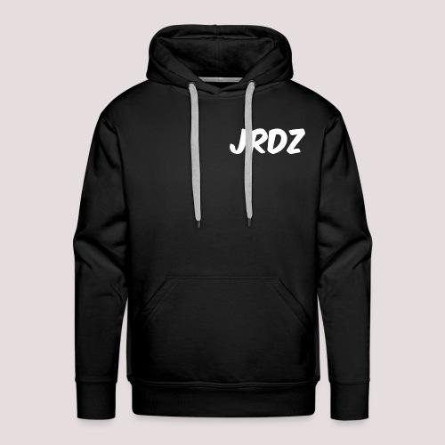 Jeardz White Consonant Logo - Men's Premium Hoodie