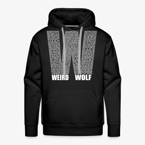 The Big W (White) - Men's Premium Hoodie