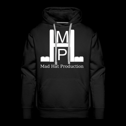 Mad Hat Logo | Weiß - Männer Premium Hoodie
