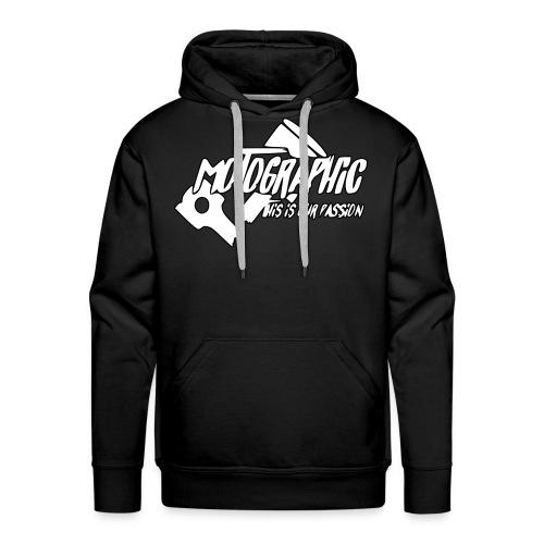 MotoGraphic logo wit zwart - Mannen Premium hoodie