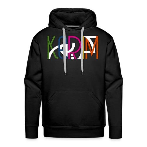 KARIM PRENOM ARABE COULEUR - Sweat-shirt à capuche Premium pour hommes