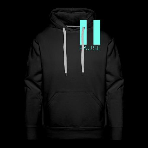 Blue Pause Logo - Men's Premium Hoodie