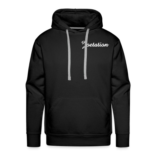 White Text Joetation Signature Brand - Men's Premium Hoodie