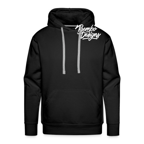 bembo_designs_white - Men's Premium Hoodie