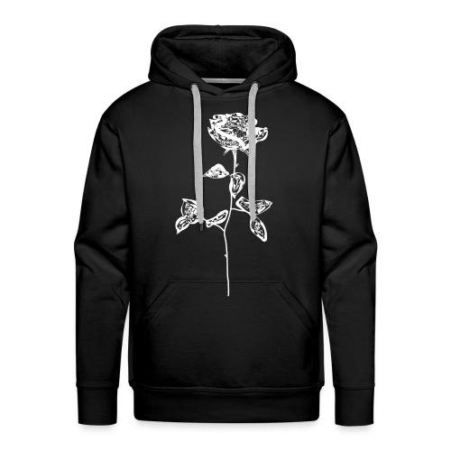 OG white rose. - Men's Premium Hoodie