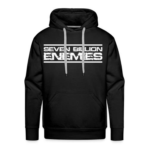 Seven Billion Enemies - BLANC - Sweat-shirt à capuche Premium pour hommes