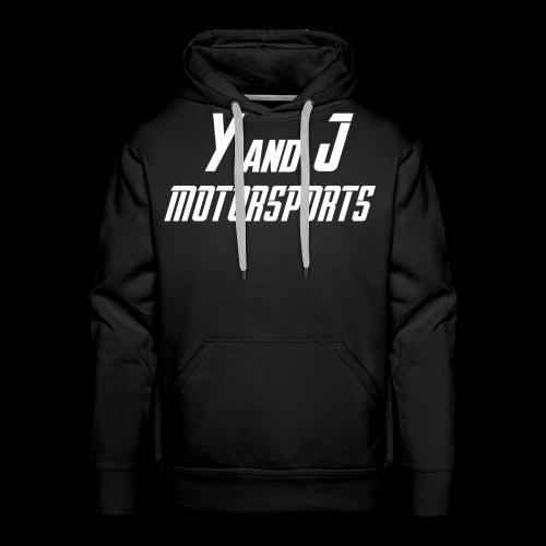 Y and J Motorsports Logo Weiß - Männer Premium Hoodie