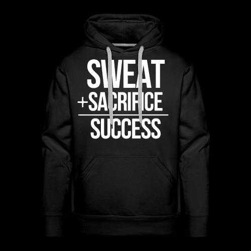 Erfolg Motivation Fitness T-shirt Englisch - Männer Premium Hoodie