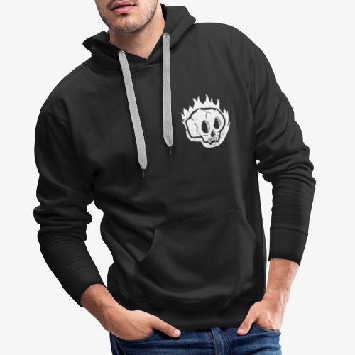 Burning skull - Sweat-shirt à capuche Premium pour hommes