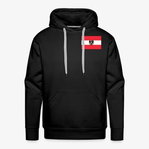 Österreichflagge mit Wappen - Männer Premium Hoodie