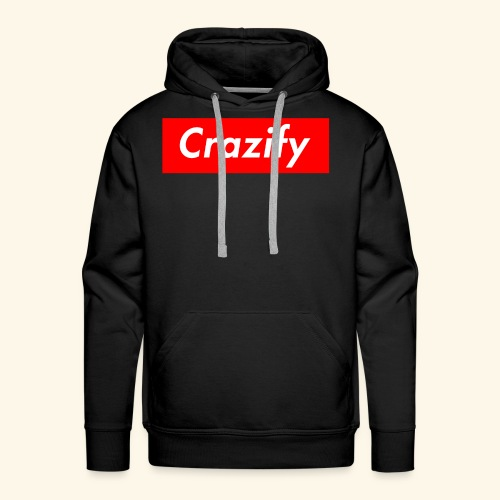 Crazify Red & White - Men's Premium Hoodie