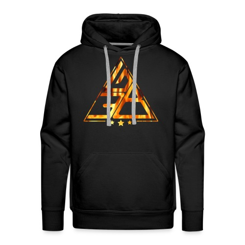 Triangle de feu - Sweat-shirt à capuche Premium pour hommes