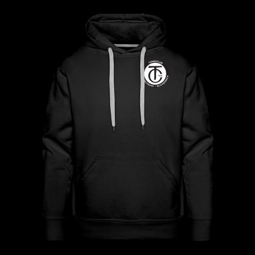 TCHR Logo Schwarz-Weiß - Männer Premium Hoodie